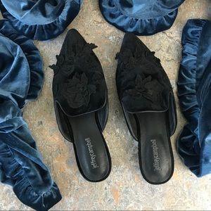 Jeffrey Campbell Claes Velvet Mules Shoes